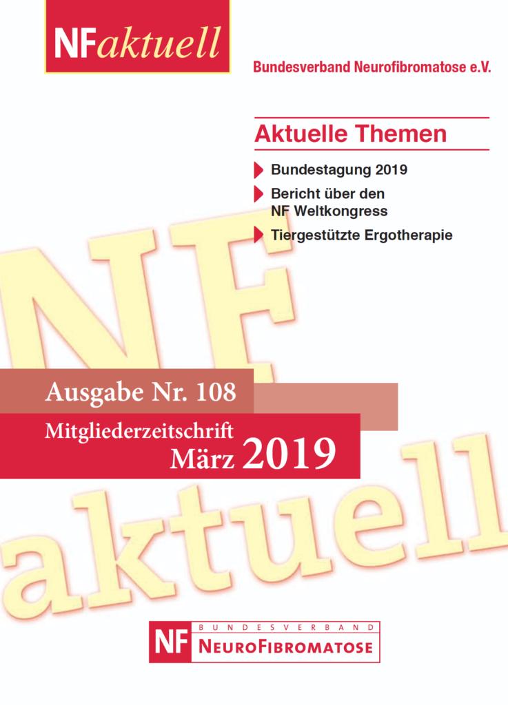 NF-aktuell-108-Maerz-2019-titel Bundesverband Neurofibromatose Mitgliederzeitschrift