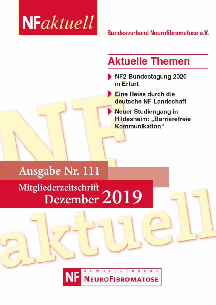 NFaktuell-Nr-111-Dez-2019 Bundesverband Neurofibromatose Mitgliederzeitschrift