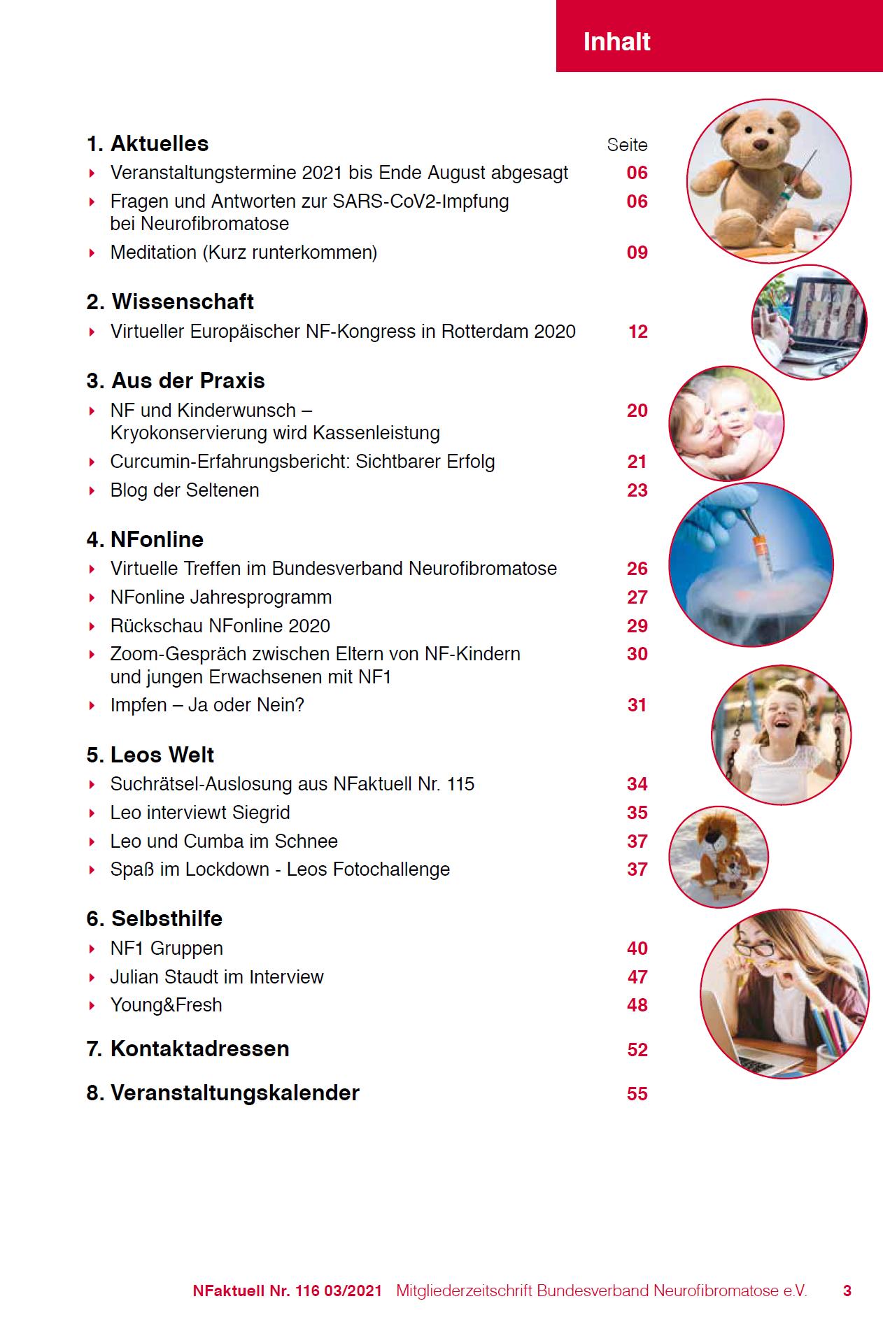 NFaktuell Mitgliederzeitschrift Bundesverband Neurofibromatose Nr 116 März 2021