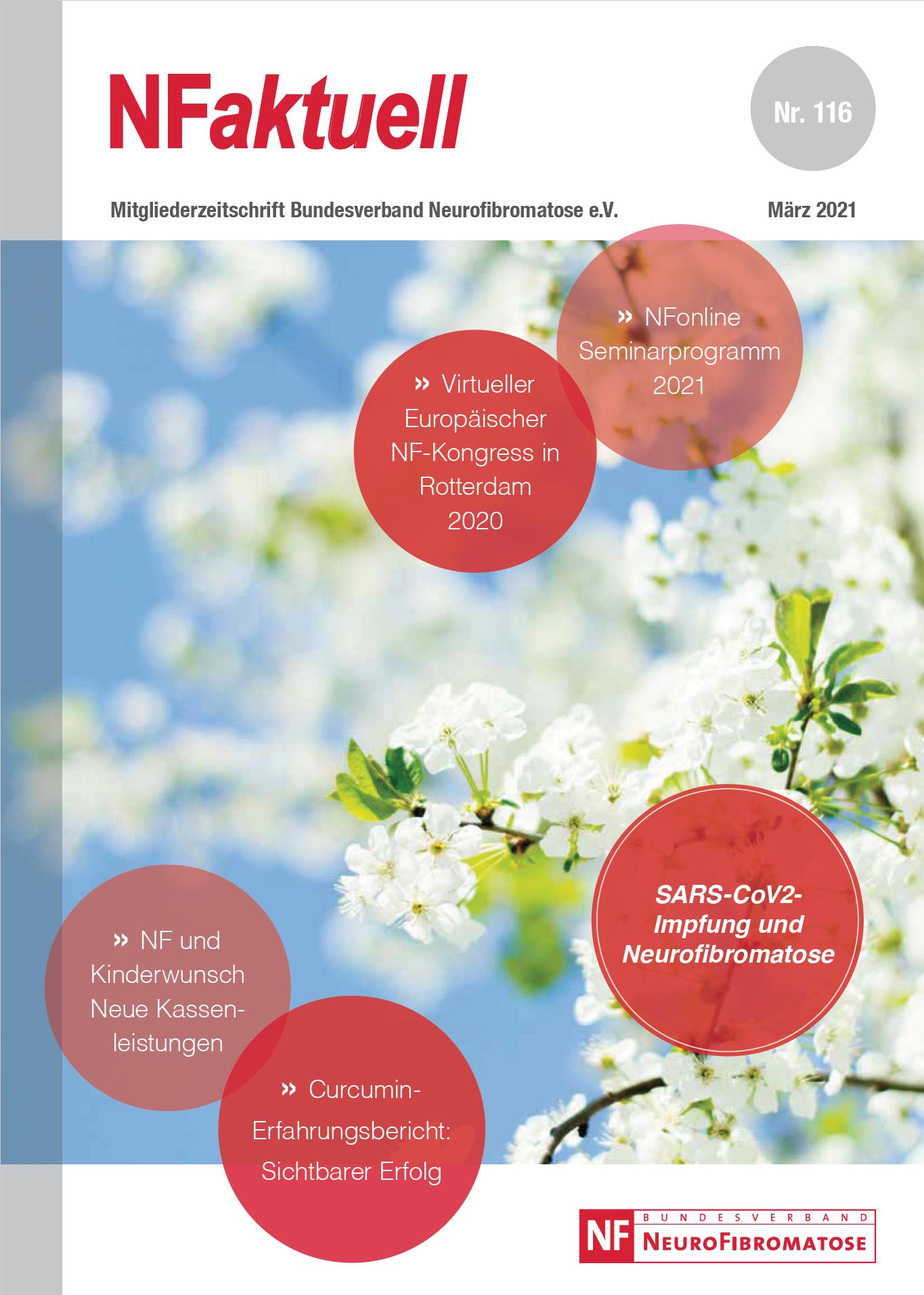 NFaktuell Nr. 116 März 2021 Mitgliederzeitschrift Bundesverband Neurofibromatose