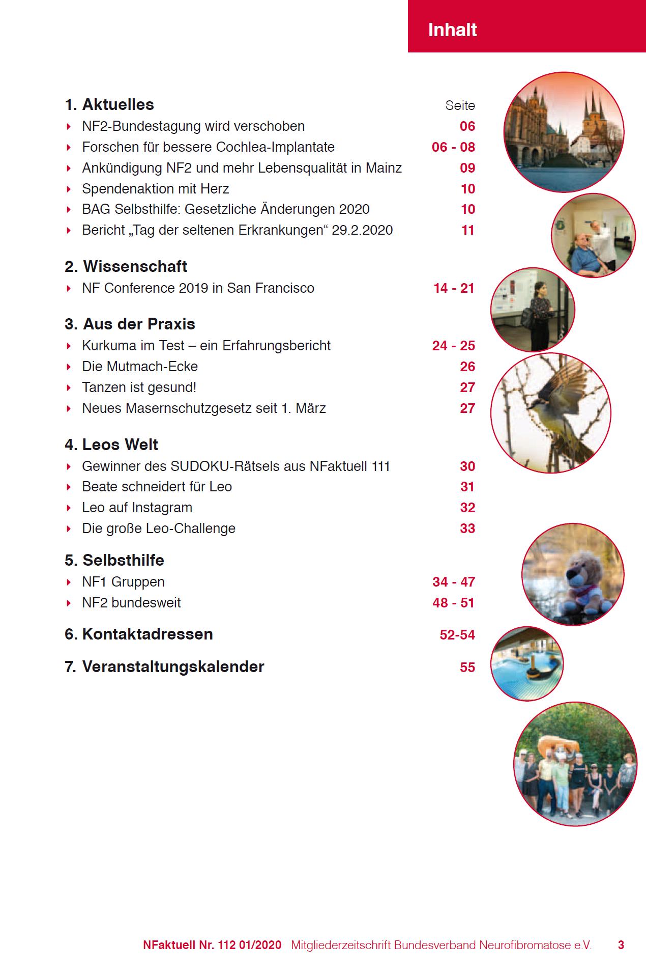 NFaktuell 112 Mitgliederzeitschrift Bundesverband Neurofibromatose